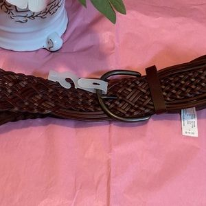 Large NWOT Brown Belt with Dark Metal Buckle